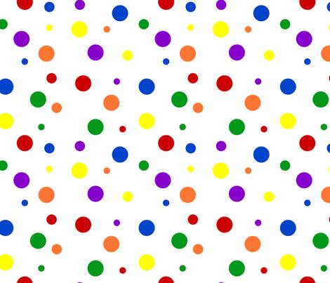 Bold Rainbow Dots - Small fabric by joyfulrose on Spoonflower - custom fabric