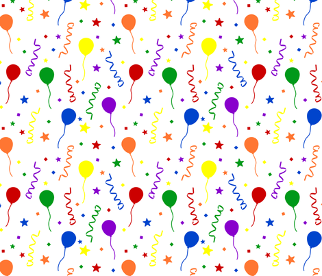 Bold Rainbow Party fabric by joyfulrose on Spoonflower - custom fabric