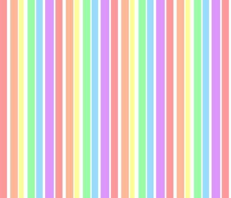 Pastel rainbow stripes fabric joyfulrose spoonflower for Rainbow color stripe watch