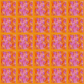 Fracture Swirl, fuscia on Tangerine