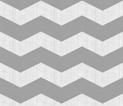 Linen Luxe ~ Chevrons ~ Modern Cottage ~ Pewter and White fabric by peacoquettedesigns on Spoonflower - custom fabric
