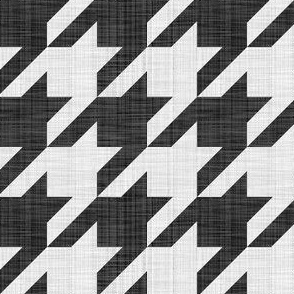 Linen Luxe ~ The Houndstooth Check ~ Black and White