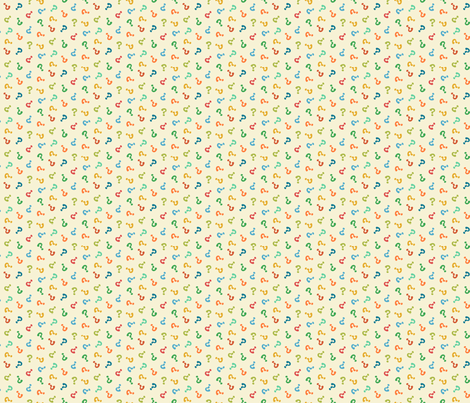 question hooha colorful fabric by darcibeth on Spoonflower - custom fabric