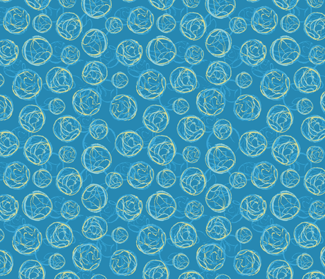 Stamped Geodes Blue fabric by vinpauld on Spoonflower - custom fabric