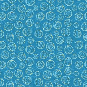 Stamped Geodes Blue