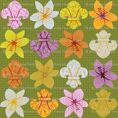 Lily and fleur de lis color study
