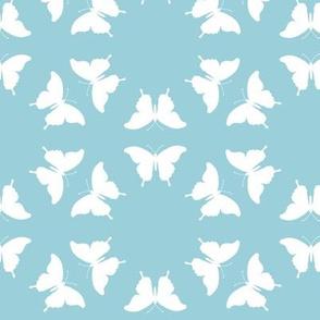 Butterfly Silhouette Sea Sky