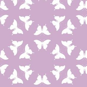 Butterfly Silhouette Dusky Rose