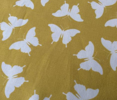 Butterfly Silhouette Mustard