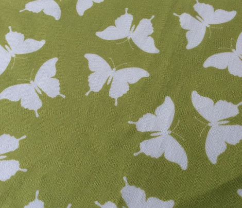Butterfly Silhouette Spring Green