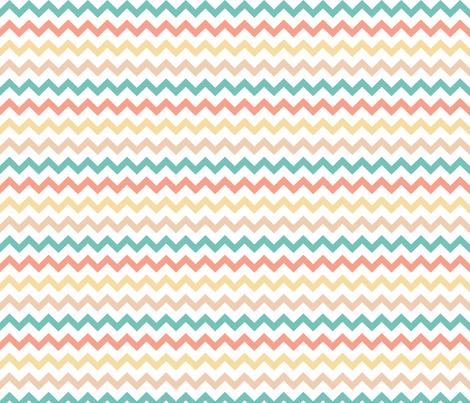 Geometric circus zigzag chevron fabric by littlesmilemakers on Spoonflower - custom fabric