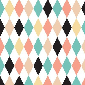 Geometric circus diamond chevron