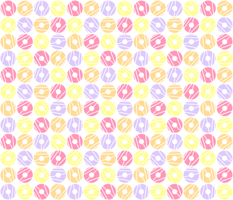 Party Rings Bright fabric by mspiggydesign on Spoonflower - custom fabric