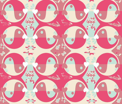 Yin Yang Whales  fabric by charldia on Spoonflower - custom fabric