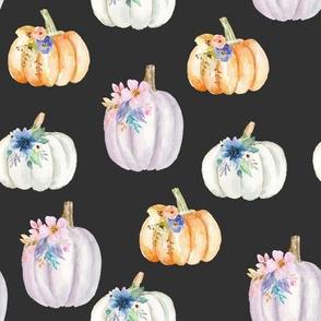 Floral Pumpkins // Charcoal