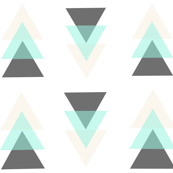 Gray, mint and cream triangles