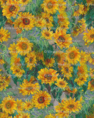 monet's sunflowers (jumbo)