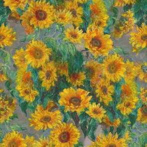 "monet's sunflowers (small 8"")"