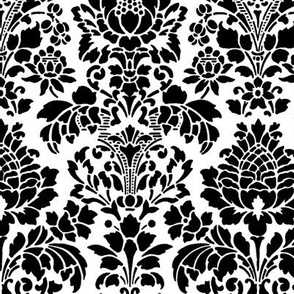 Balmoral Damask ~ Black and White