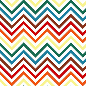 Chocolate Rainbow Chevrons