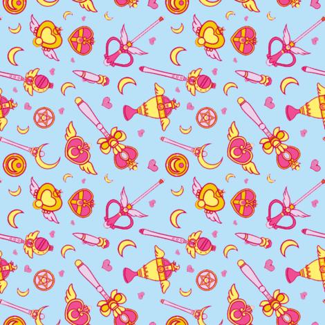 Moonie Weapons (Horizontal) fabric by rae-lynn on Spoonflower - custom fabric
