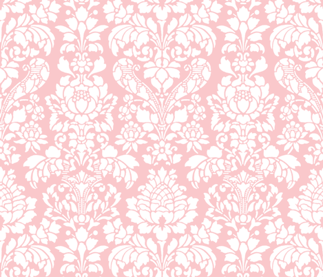 Balmoral Damask ~ White on Dauphine fabric by peacoquettedesigns on Spoonflower - custom fabric