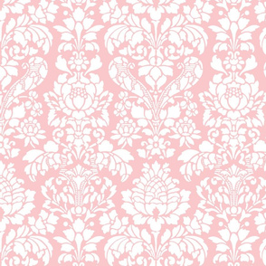 Balmoral Damask ~ White on Dauphine
