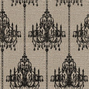 Chandelier Pinstripe on Linen