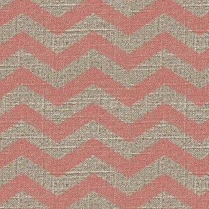 Chevron in Pink on Linen