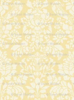 Balmoral Damask ~ Linen Luxe ~ White on Trianon Cream