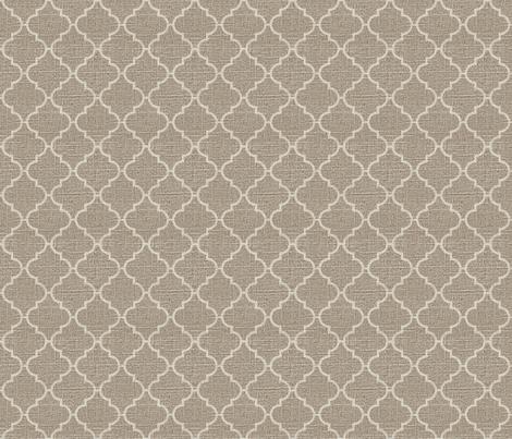 Moroccan Tile in Cream on Linen fabric by jolenebalyeatdesigns on Spoonflower - custom fabric