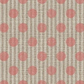 Pink Dots N' Ticking on Linen
