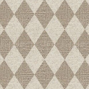Large Diamonds in Cream on Linen