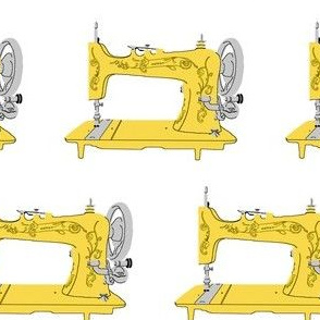 Sew Vintage Sewing Machines in Yellow