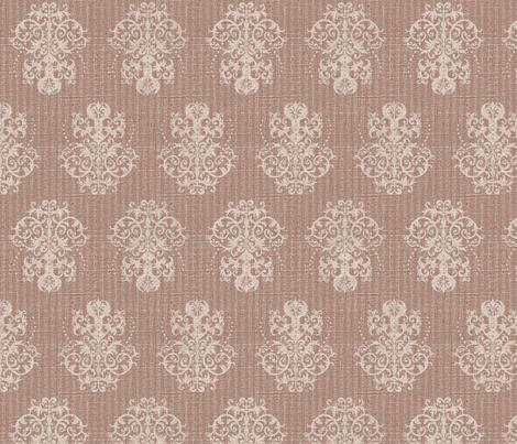 Damask Ticking in Pink fabric by jolenebalyeatdesigns on Spoonflower - custom fabric