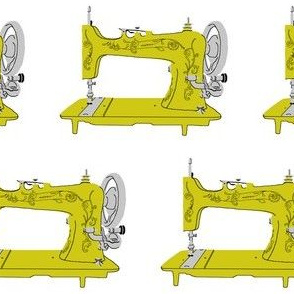 Sew Vintage Sewing Machines in Light Green