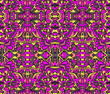 Pop in Pink fabric by whimzwhirled on Spoonflower - custom fabric