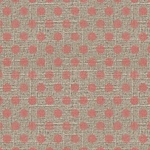 Dots in Pink on Linen