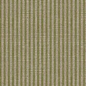 Ticking in Moss on Linen