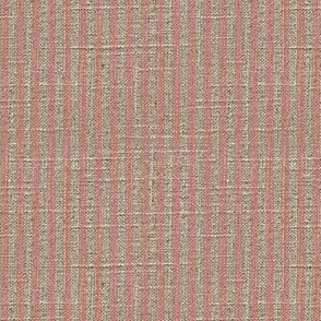 Ticking in Pink on Linen