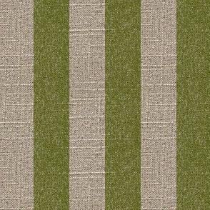 Moss Stripe on Linen