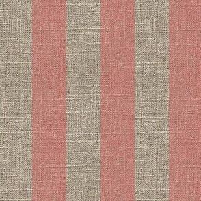 Pink Stripe on Linen
