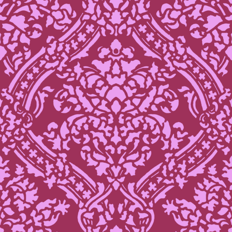 Windsor Damask ~ Provence ~ Dalliance and Eponine fabric by peacoquettedesigns on Spoonflower - custom fabric