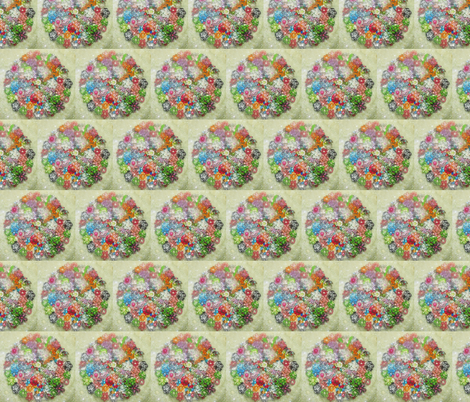 Fabric Garden Party-bright fabric by seedtosalad on Spoonflower - custom fabric
