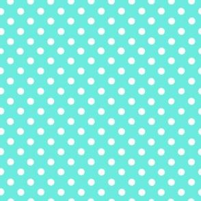 Small White Dots on Aqua 12x12
