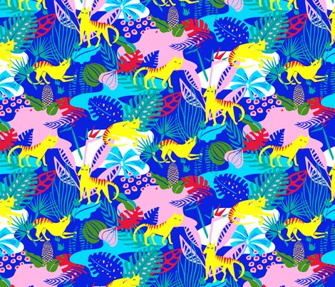 Tasmanian Tiger fabric by elliewhittaker on Spoonflower - custom fabric
