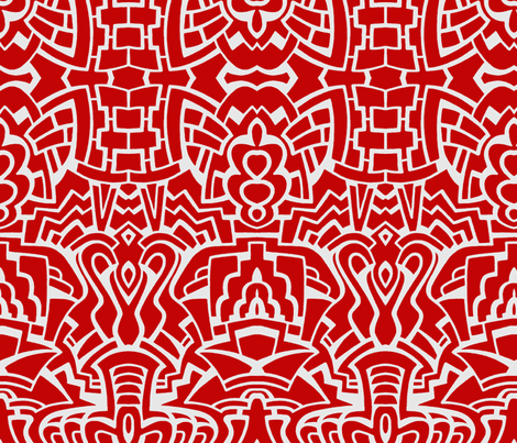 Pop Pattern in Red and White fabric by whimzwhirled on Spoonflower - custom fabric