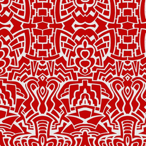 Pop Pattern in Red and White