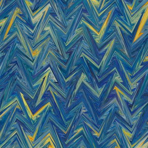 starry night chevron
