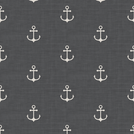 Anchor - Off white Gray Texture fabric by kimsa on Spoonflower - custom fabric